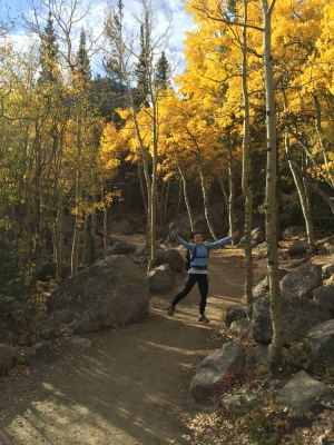 Jumping for Joy - October is the best in RMNP