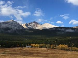 Longs Peak from road lookout