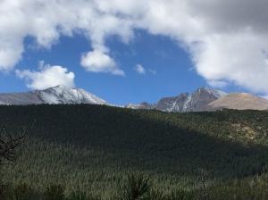 trail views of Longs Peak