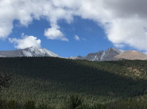 trail views of Longs Peak