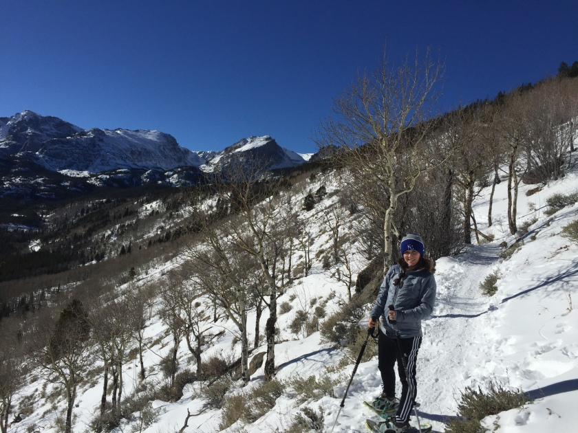 Snowshoe hike up to Bierstadt Lake in Rocky Mountain National Park