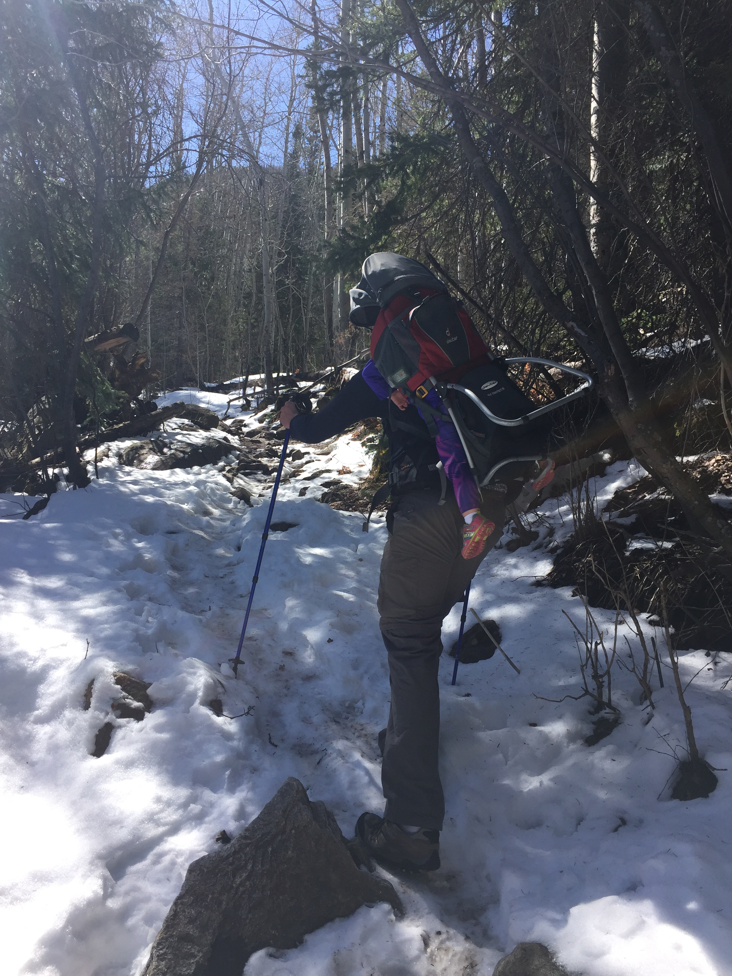 april hike in snow in rocky mountain national park