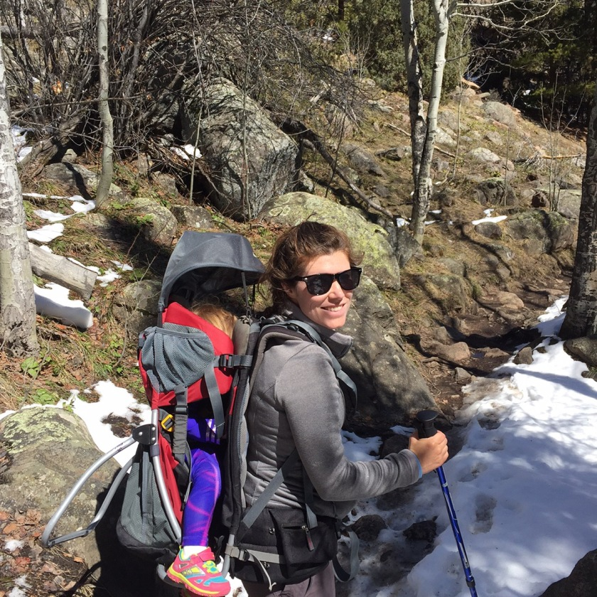 hiking with a kid carrier