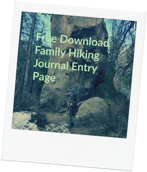 Free Family Hiking Journal Page