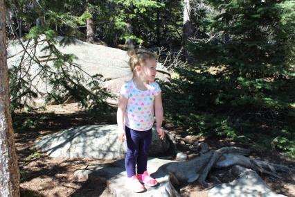Toddler led hikes around Sprague Lake in RMNP