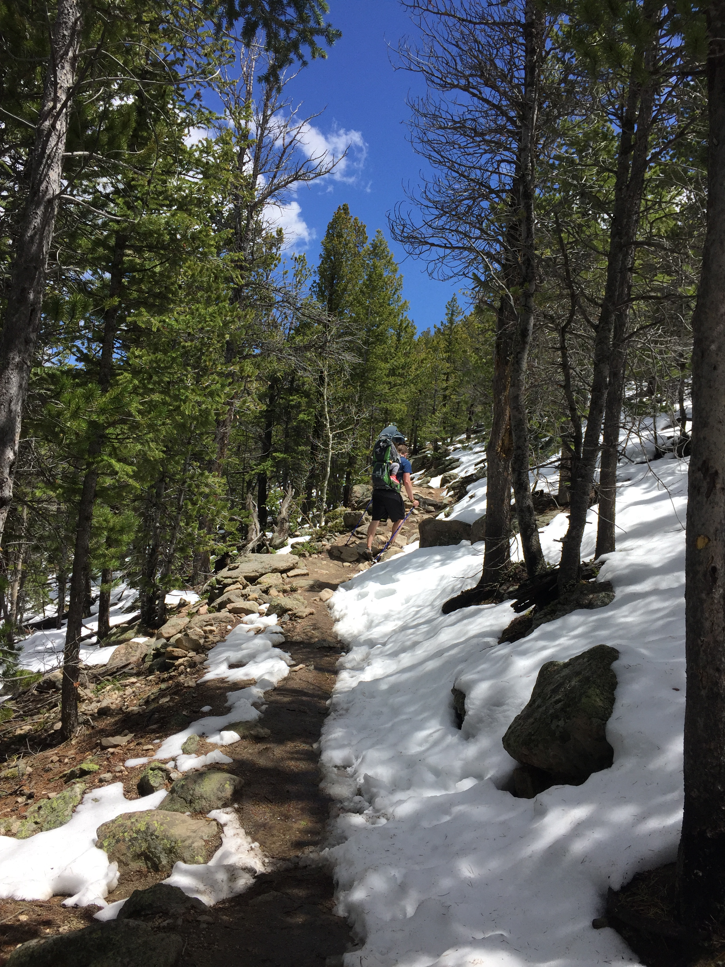 Hiking Deer Mountain in Rocky Mountain National Park in May