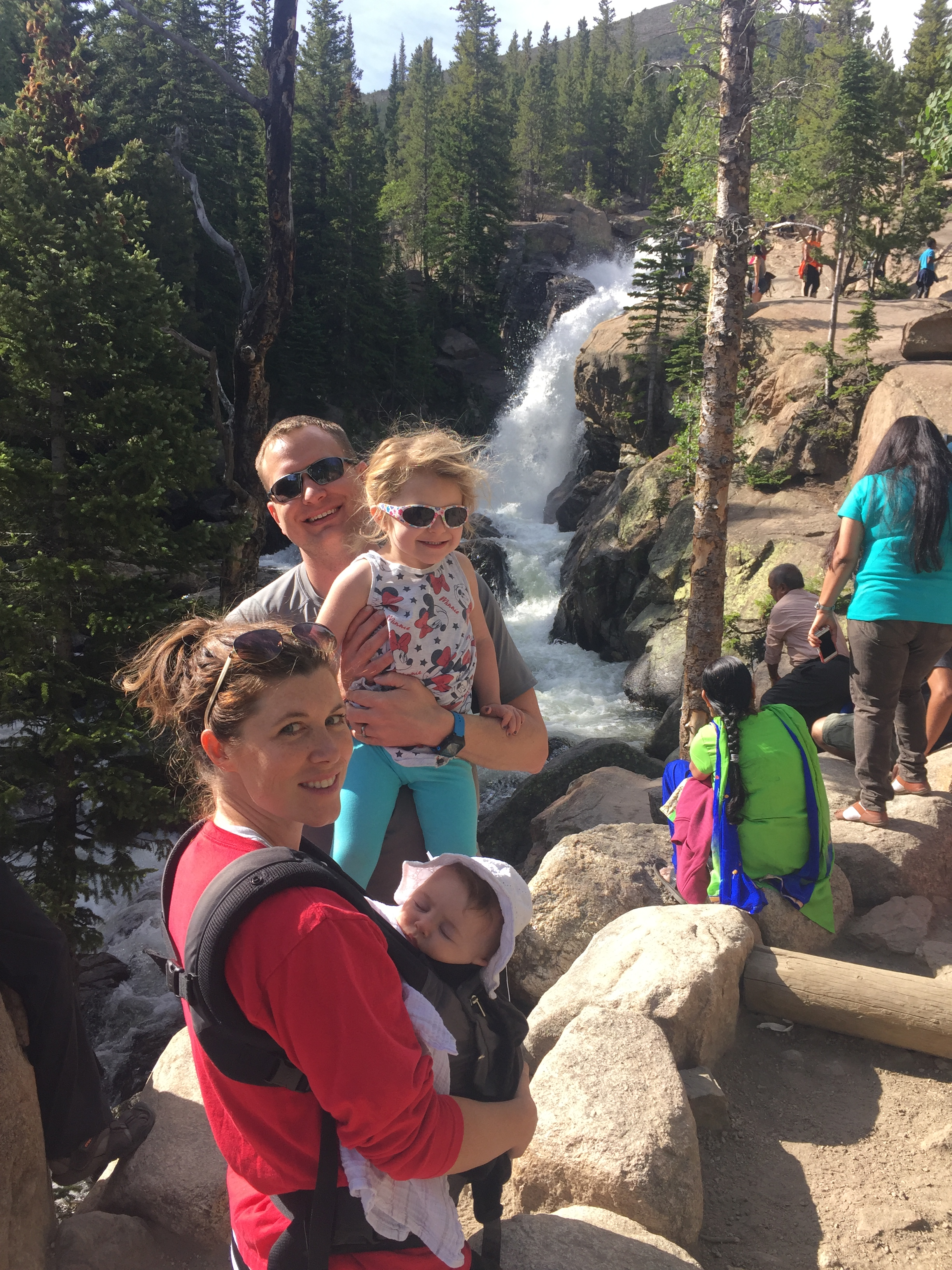 Alberta Falls is a popular destination in Rocky Mountain National Park