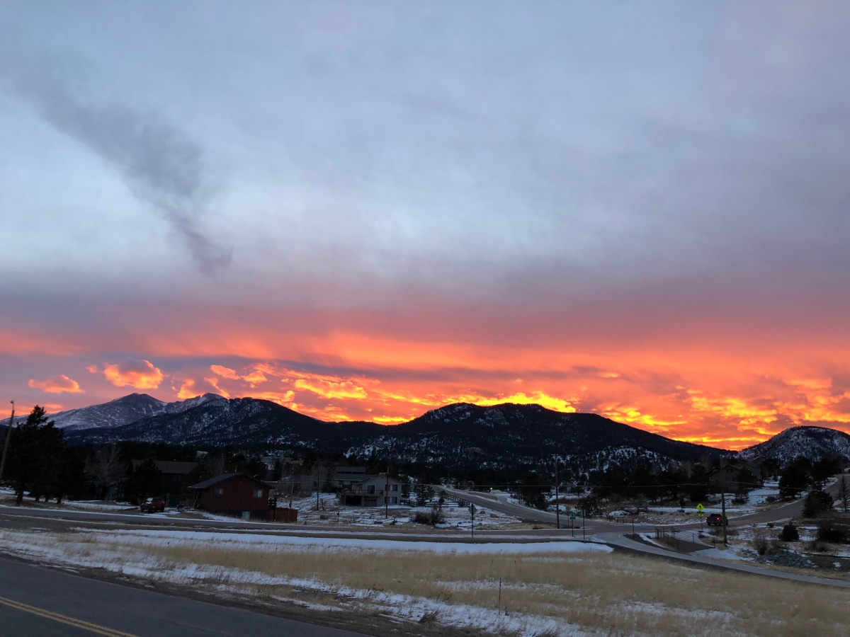 Sunset in Estes Park CO