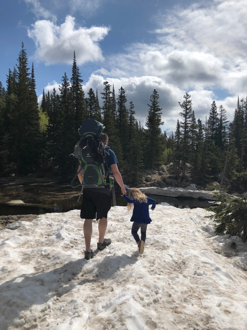 Snow hike in Rocky Mountain National Park