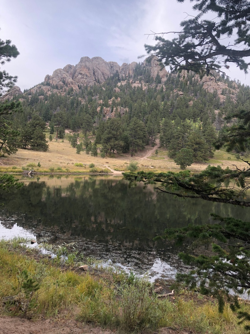 Mountain Views around Lily Lake in Rocky Mountain National Park