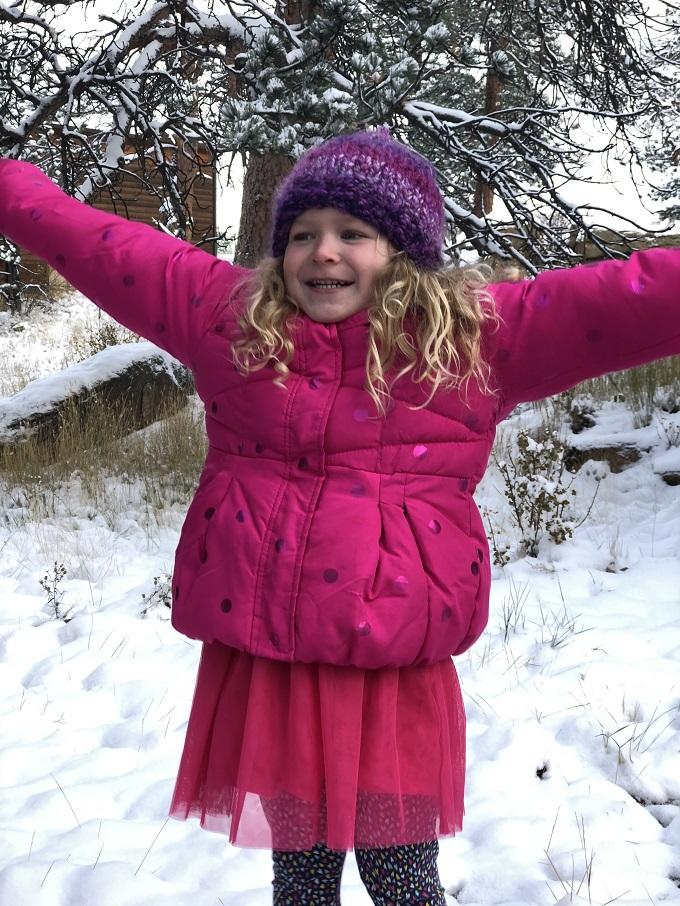 Snow in Estes Park Colorado