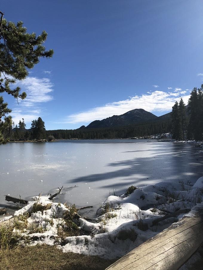 sprague lake half frozen