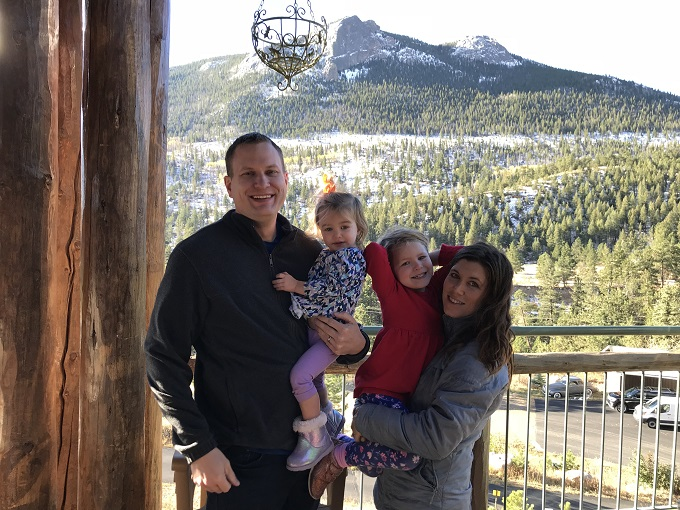 family photo in estes park colorado