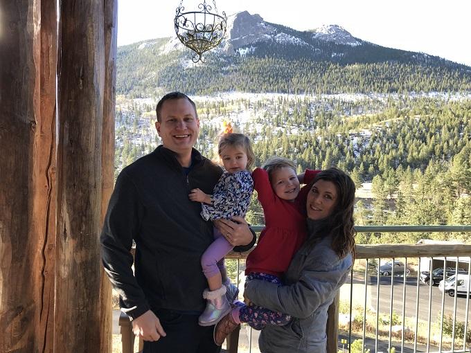 family photo in estes park colorado
