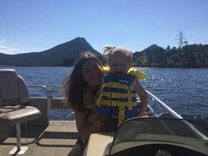boat ride on lake estes.