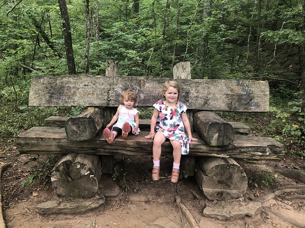 Little hikers in Northwest Arkansas