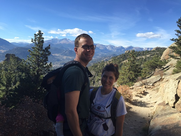Hiking up to Gem Lake in Rocky Mountain National Park