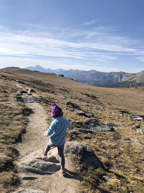 Hiking on the Ute Trail off of Trail Ridge Road in Rocky Mountain National Park
