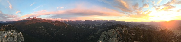 panoramic views from the top of Lily Mountain