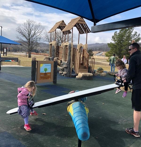 playground at Kessler mountain park in Fayetteville arkansas
