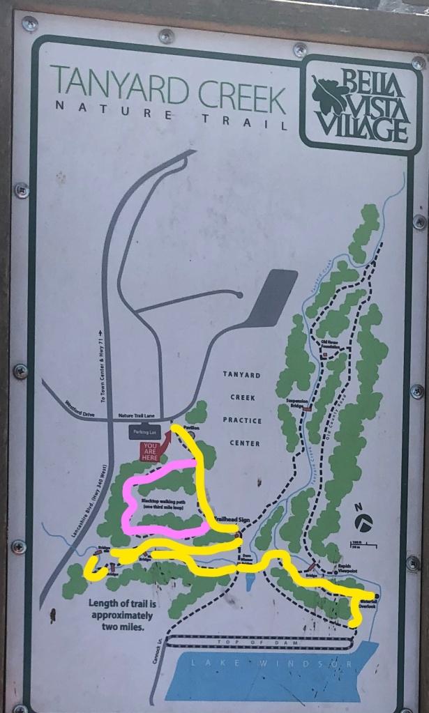 Tanyard Creek Nature Trail signage