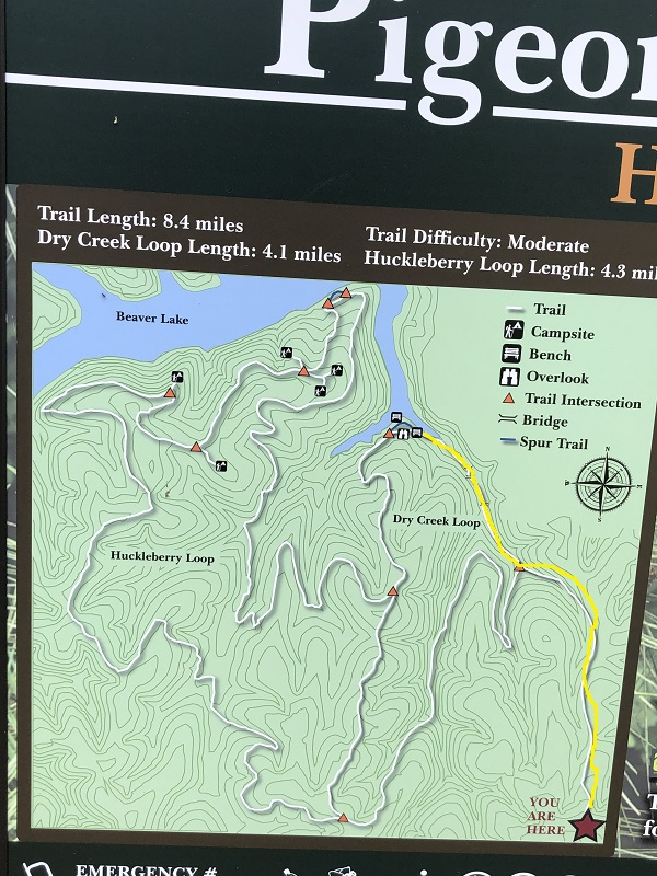 Pigeon Roost trail signage