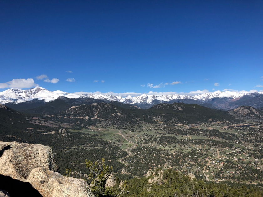 great views at summit of kruger rock trail in hermit park near estes park colorado