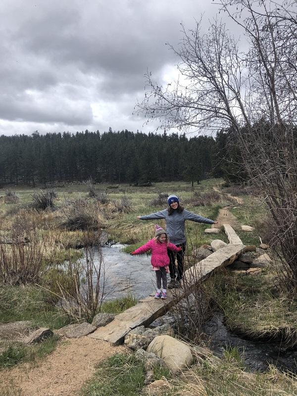 crossing the creek in Upper Beaver Meadows