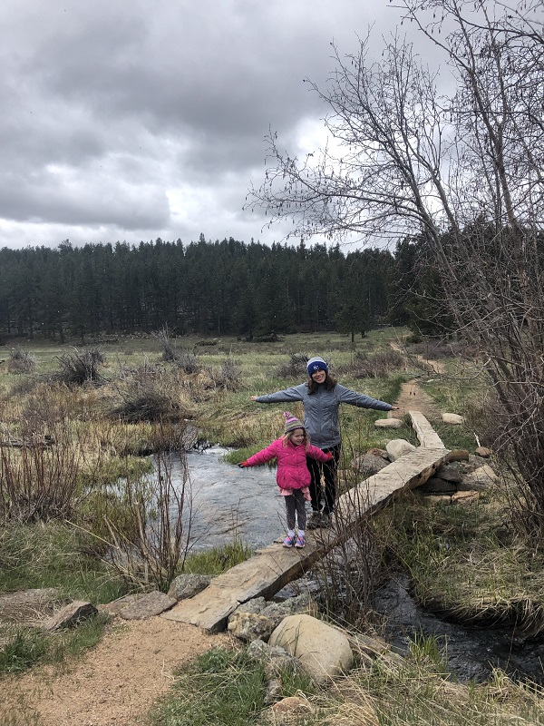 crossing the creek in Upper Beaver Meadows