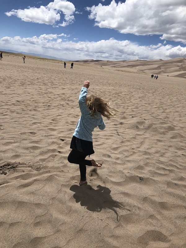 Dancing in the sand at Great Sand Dunes National Park