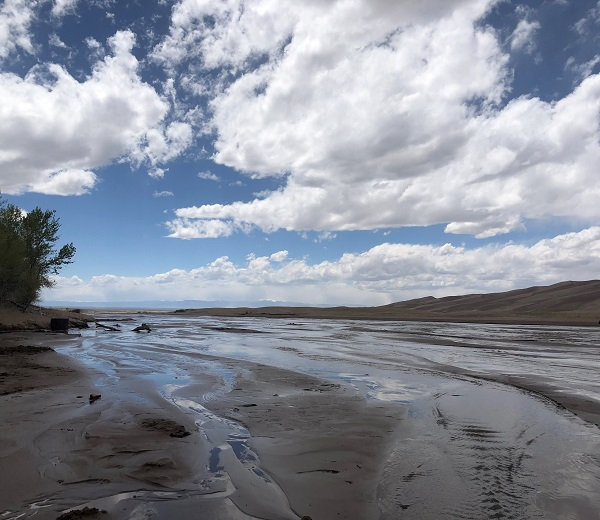 Medano Creek runs in late May at Great Sand Dunes National Park