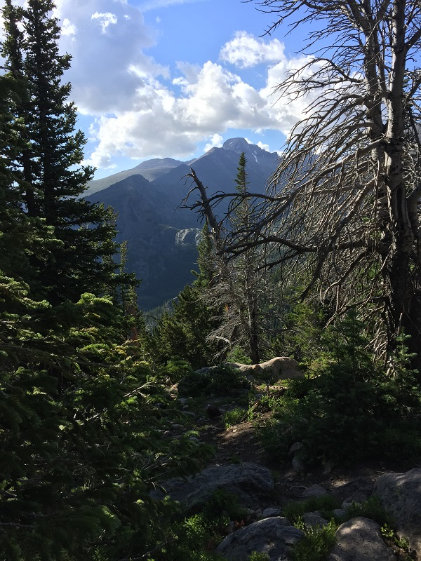 Hike up to Emerald Lake Look out via Flattop Mountain Trail