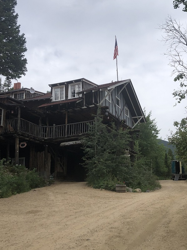 Walk by Historic Baldpate Inn in Estes Park, Colorado