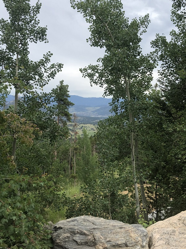 Park near Lily Lake and Twin Sisters to start hike on Homer Rouse Trail