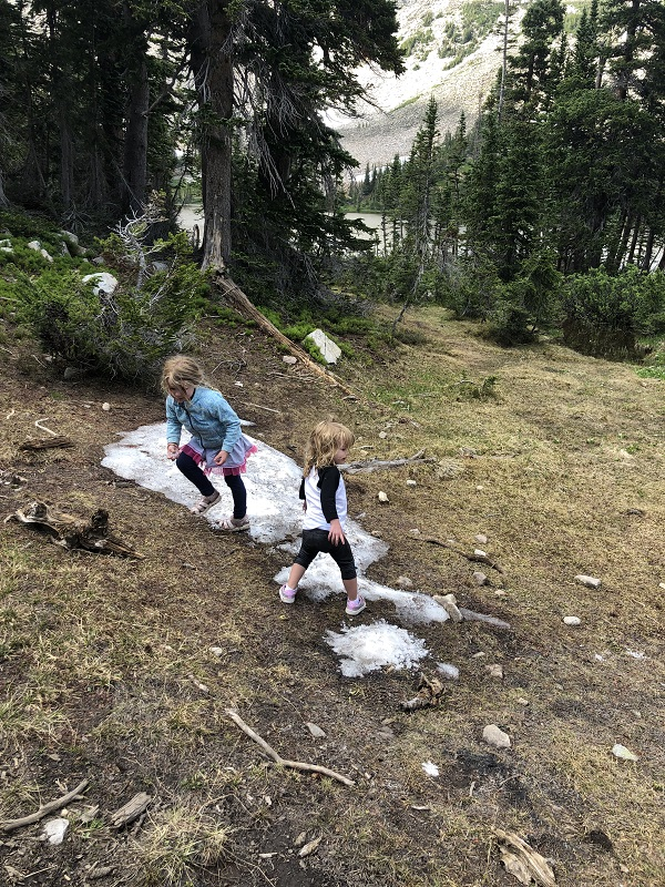 Snow near Mitchell Lake in Indian Peaks Wilderness Area