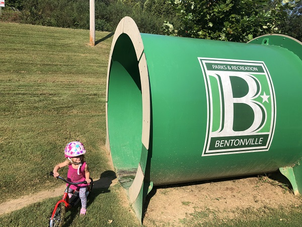 Bentonville Parks and Recreation Bike Playground