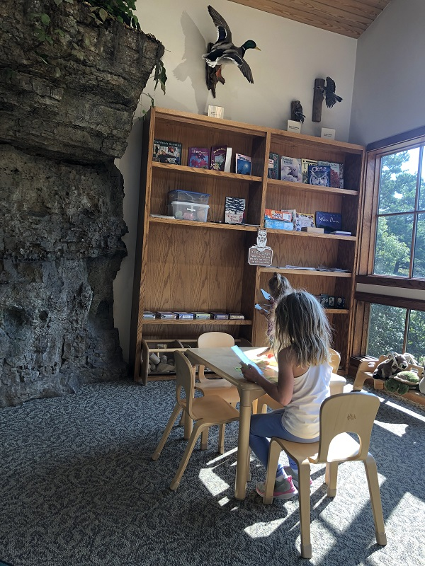 kids corner and mother nature story time at hobbs state park