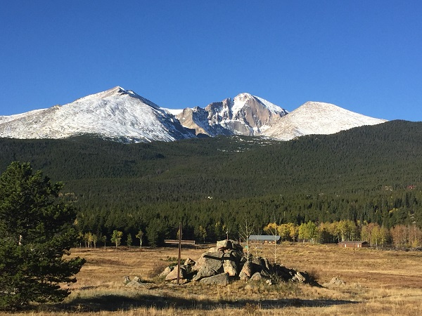 View of Longs Peak on a crisp October morning