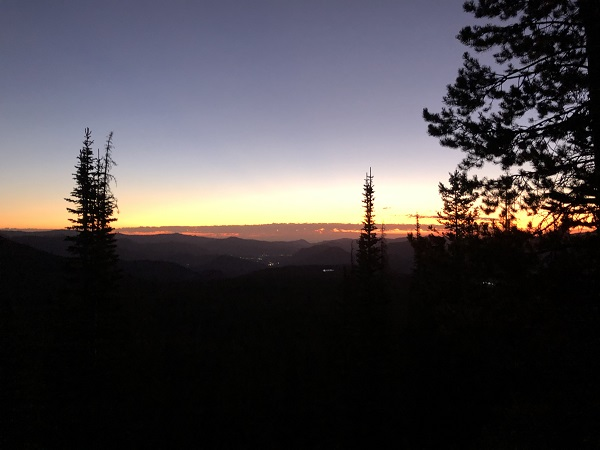 Early start to hike up Hallett Peak in Rocky Mountain National Park