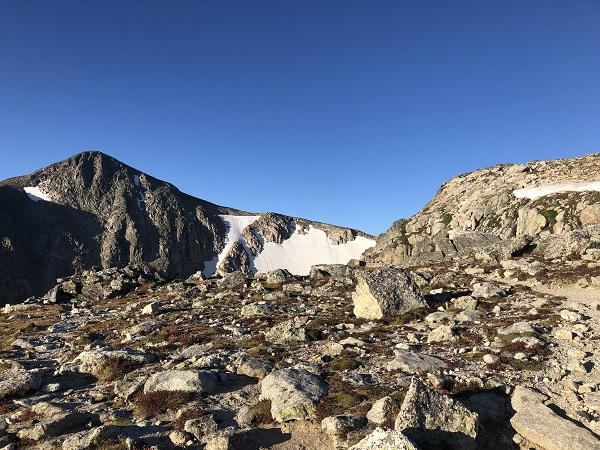 Approaching summit of Hallett Peak