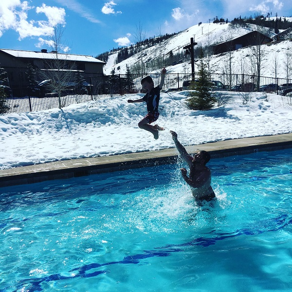 Heated swimming pool in Granby, Colorado