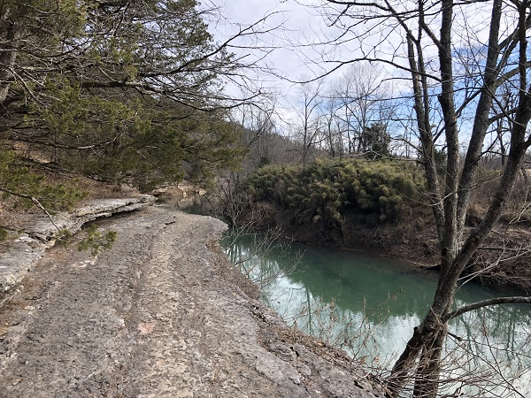 War Eagle Trail in Withrow Springs State Park. Arkansas State Parks
