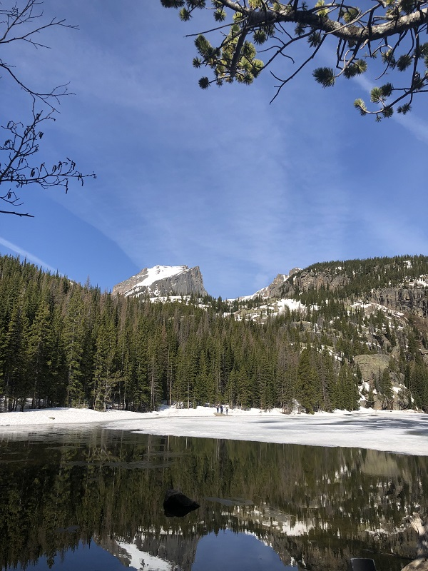 Bear Lake in the Snow. Rocky Mountain National Park. Colorado