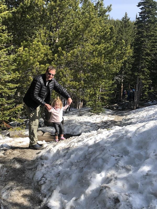 Bear Lake in the Snow. Rocky Mountain National Park. Colorado