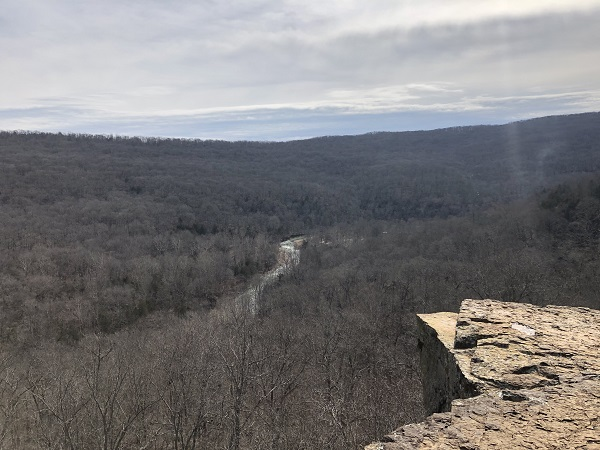 Ozark Mountain views. Yellow Rock. Arkansas. Devil's Den