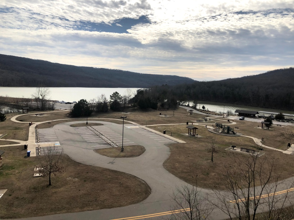 Day use amenities at Lake Fort Smith State Park in Arkansas