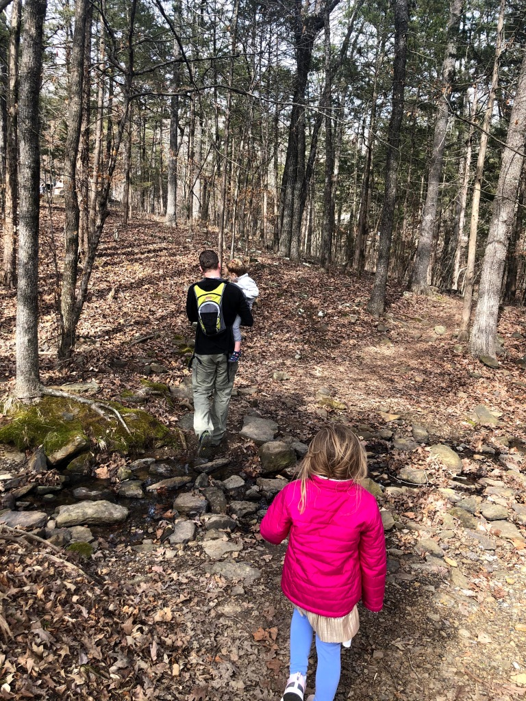 Family friendly hiking trail at Lake Fort Smith