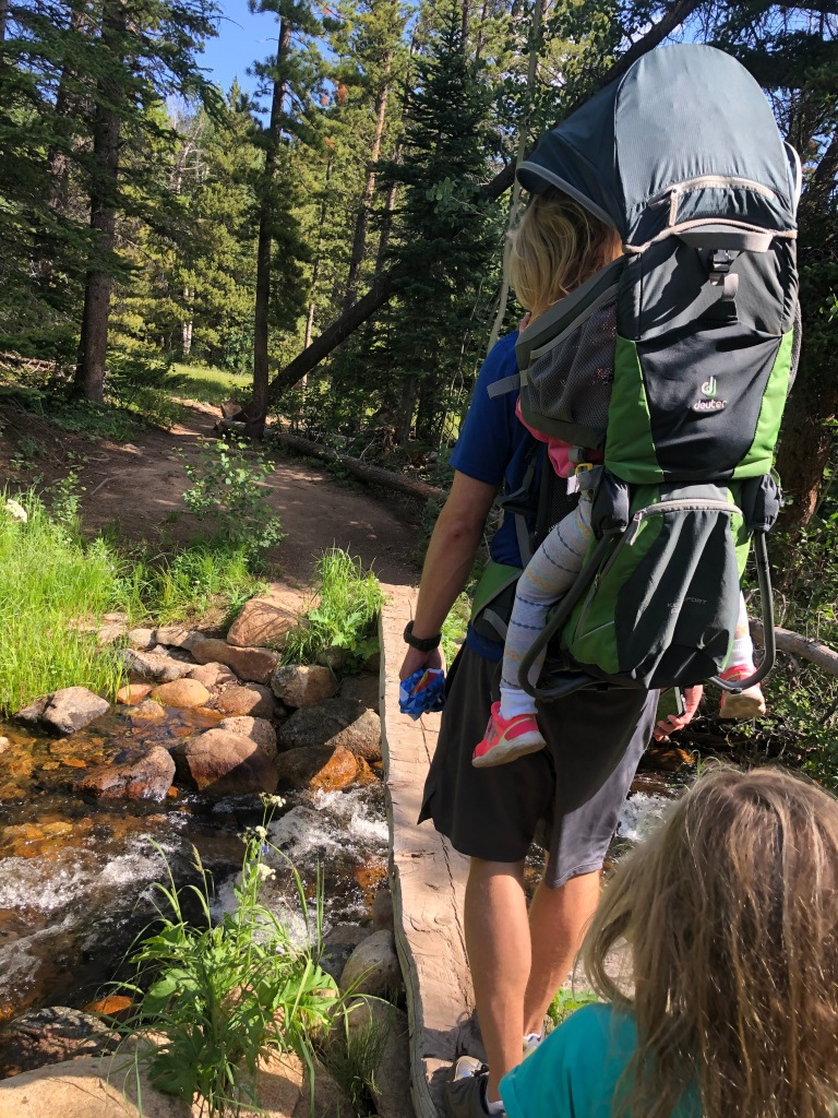 Crossing Mill Creek. Hollowell Park in Rocky Mountain National Park. To Mill Creek Basin. Loop trail