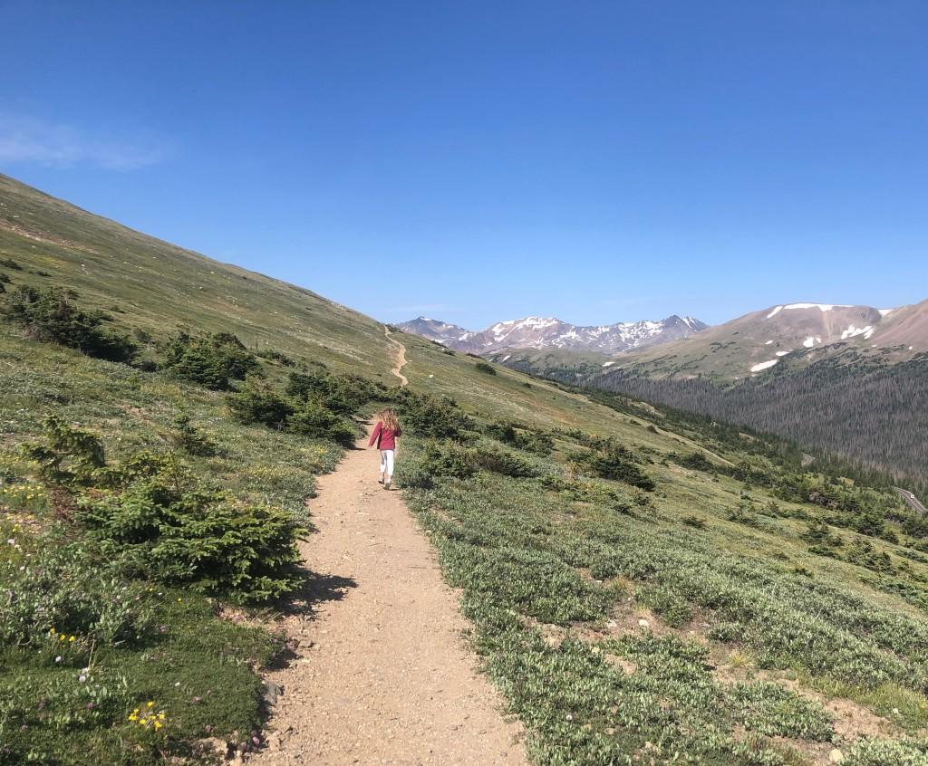 Rocky Mountain National Park Ute Trail near Alpine Visitor Center