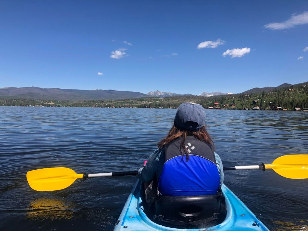 Grand Lake Colorado kayaking. Rent a kayak on Grand Lake.
